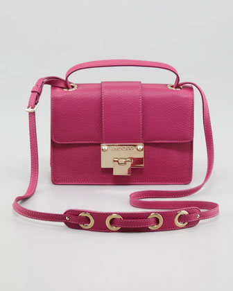 Rebel Leather Crossbody Bag, Purple