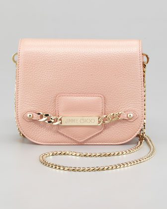 Shadow Metallic Crossbody Bag, Blush