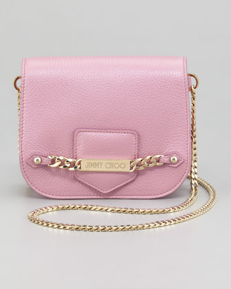 Shadow Metallic Crossbody Bag, Peony
