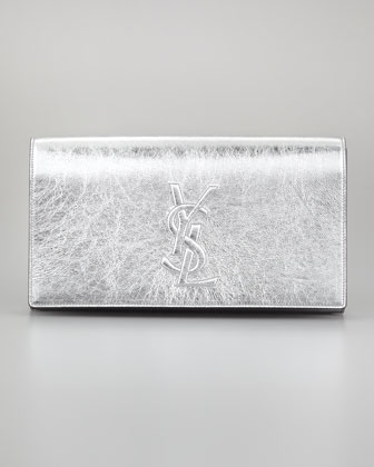 Belle Du Jour Clutch Bag, Silver