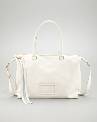 Alix East-West Double Function Bag, Off-White