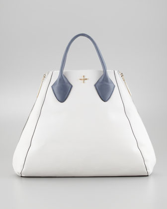 Yves Medium Tote Bag, White