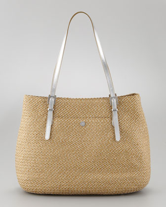 Jav II Square Squishee Tote Bag, Natural
