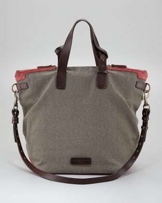 Palermo Canvas Tote Bag, Beige
