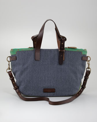 Athena Canvas Tote Bag, Dark Blue