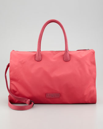 Nylon East-West Tote Bag, Salmon