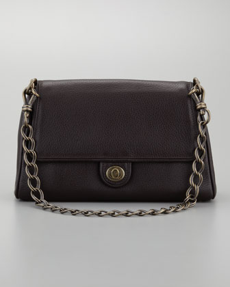 Medium Chain Link Calfskin Leather Shoulder Bag