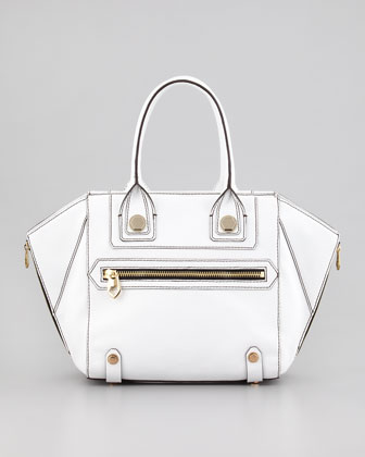 Megan Convertible Tote Bag, White