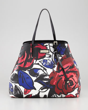 Sasha Large Printed Canvas Tote Bag