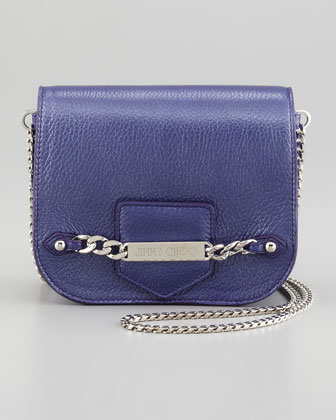 Shadow Leather Crossbody Bag, Violet