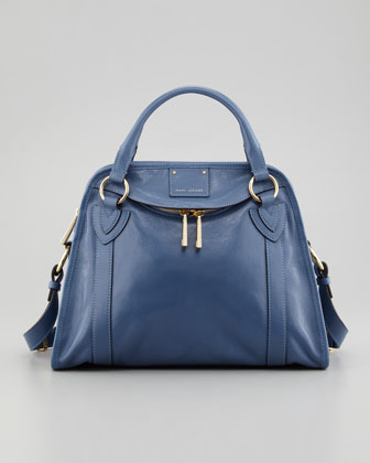Classic Wellington Satchel Bag, Denim