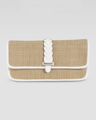 Bedford Izzie Clutch Bag, Natural/Ivory