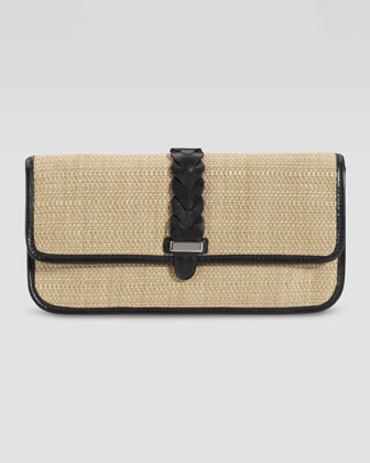 Bedford Izzie Clutch Bag, Natural/Black