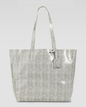 Haven Snake-Print Tote Bag, Ivory