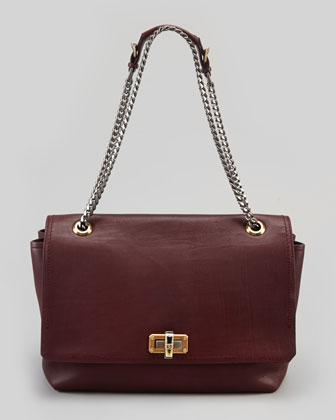 Happy Large Shoulder Bag, Plum