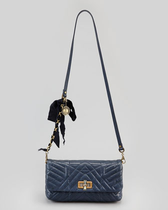 Happy Poppy Pouchette Bag, Navy