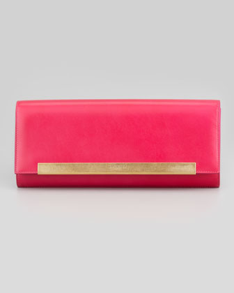 Lutetia Flap Clutch Bag, Pink