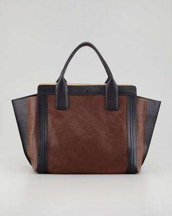 Alison Small Tote Bag, Brown