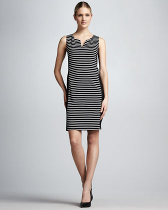 Striped Punto Combo Dress