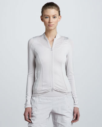 Perforated-Panel Active Jacket, Gray