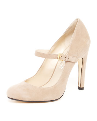 Galli Suede Mary Jane Pump, Khaki
