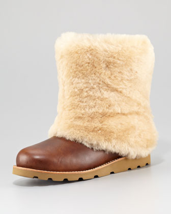 Maylin Shearling Leather Boot