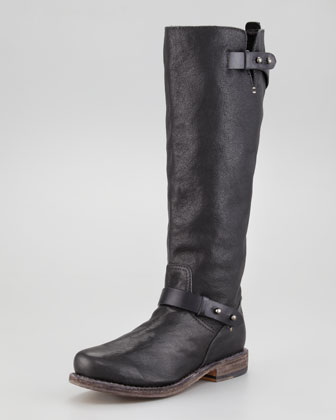 Knee-High Moto Boot