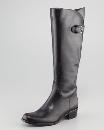 Adjustable-Calf Flat Boot