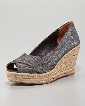 Filipa Wedge Espadrille, Pewter