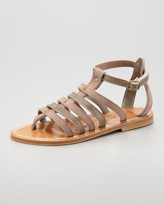 Agopos Two-Tone Strappy Sandal