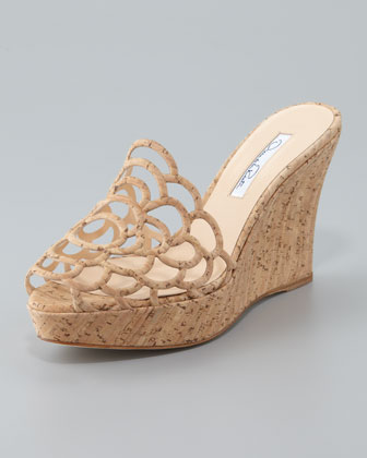 Virma Cork Wedge Slide