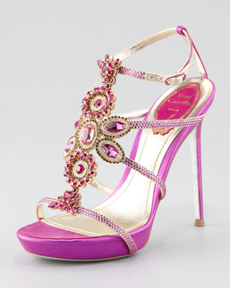 Crystal-Beaded Sandal
