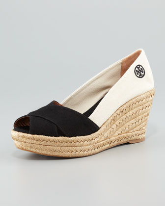 Filipa Colorblock Espadrille, Black/Natural