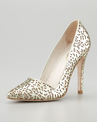 Dina Laser-Cut Metallic Pump