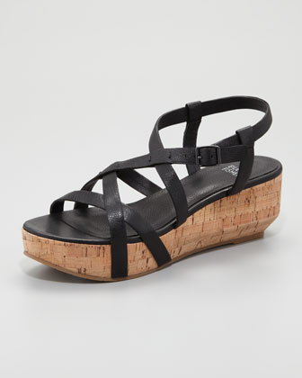 Array Cork Sandal, Black