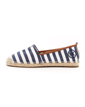 Meg Striped Espadrille Flat