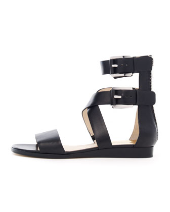 Josephine Flat Leather Sandal