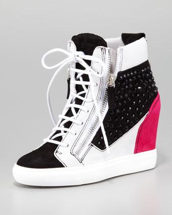 wedge heel lace up sneaker neiman marcus wedge heel