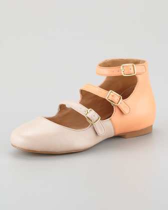 Gatsby Colorblock Buckled Flat