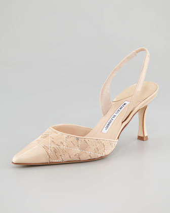 Irie Patent Leather and Quilted Cork Mid Heel Halter