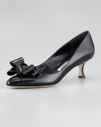 Lisane Bow-Toe Pump, Black