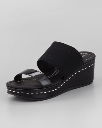 Shera Slip-On Wedge, Black