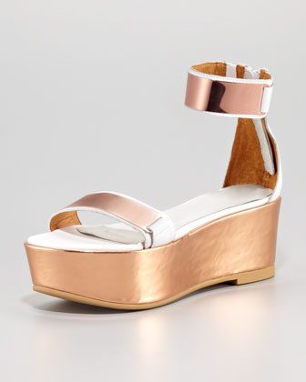 Lars White Rose Gold Sandal