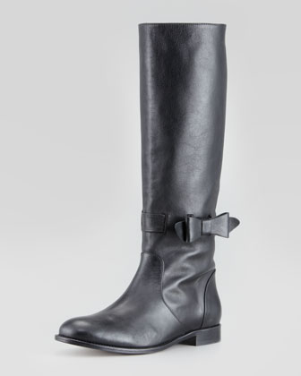 Pull-On Bow Riding Boot