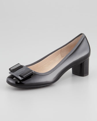 My Flair Patent Mid-Heel Pump