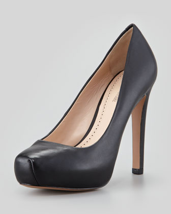 Gilliana Leather Platform Pump
