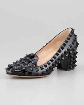 Punk Rockstud Loafer Pump