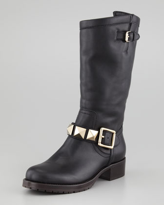 Rockstud Shearling-Lined Boot