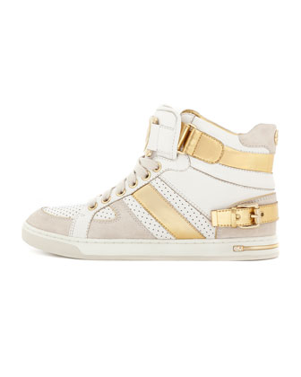 Fulton Metallic High-Top Sneaker