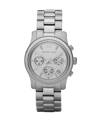 Stainless Steel Midsized Chronograph Watch